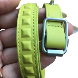 Balenciaga Balenciaga yellow triple wrap embossed bracelet