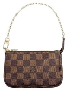 Louis Vuitton Damier Canvas Pouch Brown Clutch