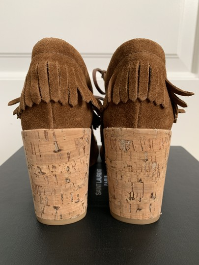 Tory Burch Suede Embroidered Beaded Fringe Brown Boots Image 6