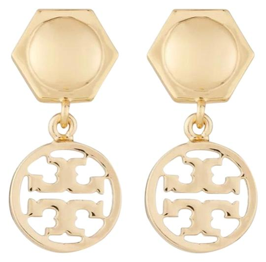 Preload https://img-static.tradesy.com/item/25880433/tory-burch-gold-circle-logo-drop-earrings-0-1-540-540.jpg