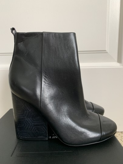Tory Burch Leather Logo Zip Black Boots Image 1