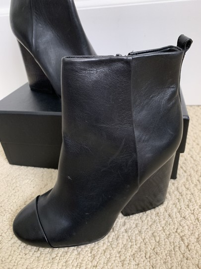 Tory Burch Leather Logo Zip Black Boots Image 10