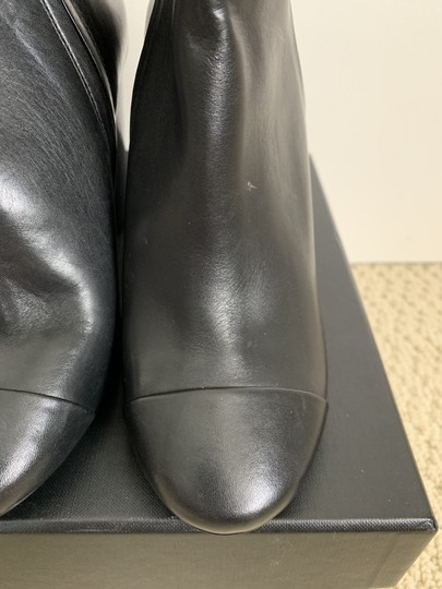 Tory Burch Leather Logo Zip Black Boots Image 11