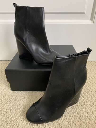 Tory Burch Leather Logo Zip Black Boots Image 5