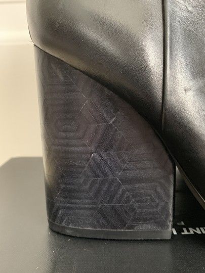 Tory Burch Leather Logo Zip Black Boots Image 7