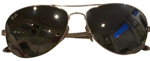 Ray-Ban Ray-Ban Aviator Carbon Fibre polarized gun metal with crystal brown gradient