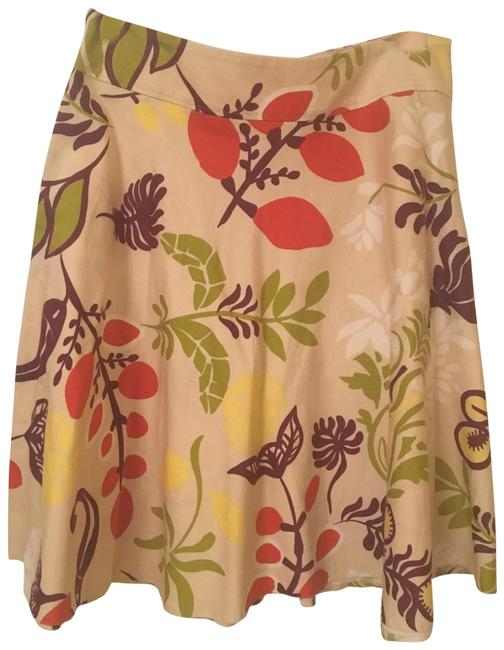 Item - Multi-colored Tropical Print Summer Skirt Size 8 (M, 29, 30)