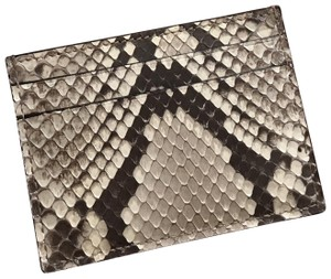 Gucci Gucci snake skin card wallet exotic unisex NEW