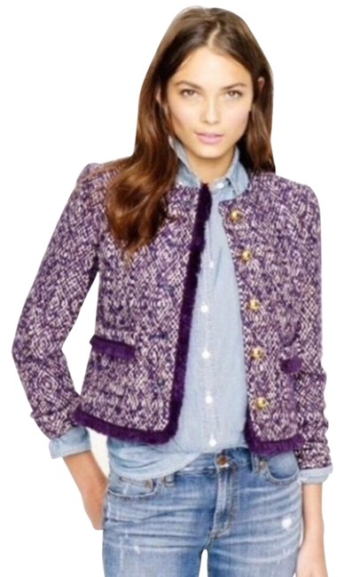 Item - Purple Like New Tweed Jacket Size 8 (M)