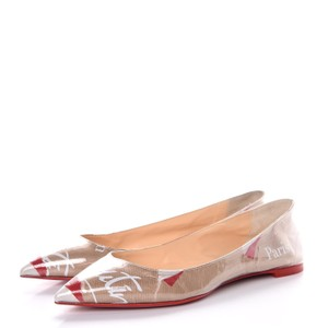 Christian Louboutin Mismatch Logo Shopping Bag Beige Flats