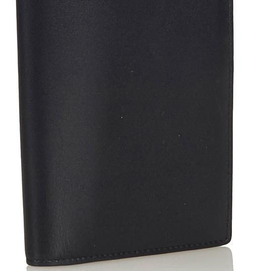 Saint Laurent YSL Black Leather Long Wallet Italy SMALL Image 10