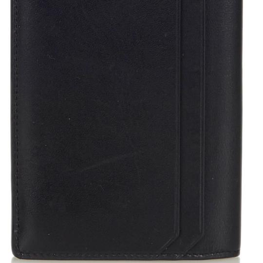 Saint Laurent YSL Black Leather Long Wallet Italy SMALL Image 11