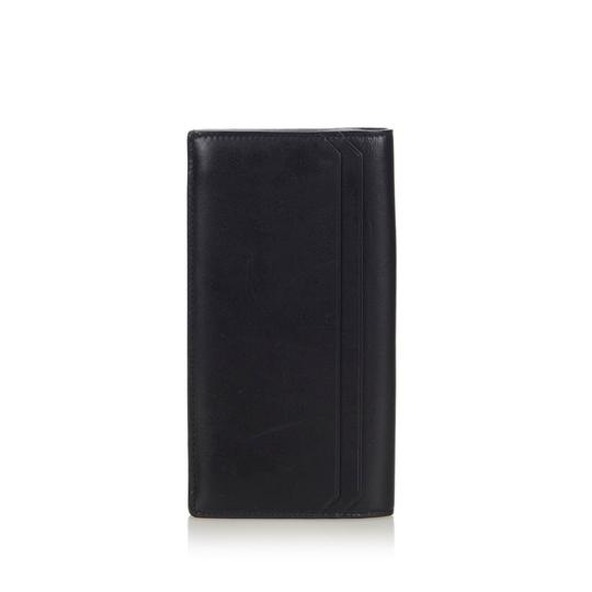 Saint Laurent YSL Black Leather Long Wallet Italy SMALL Image 2
