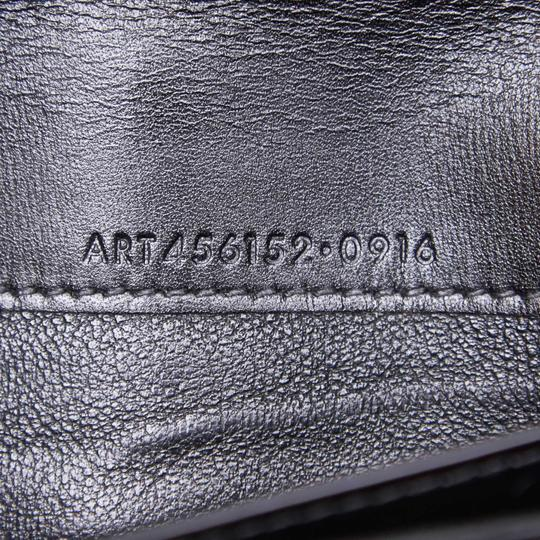 Saint Laurent YSL Black Leather Long Wallet Italy SMALL Image 6