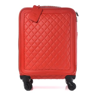 Chanel Red Travel Bag