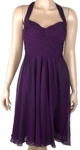Vera Wang Lavender Label short dress Purple Silk Chiffon Formal on Tradesy