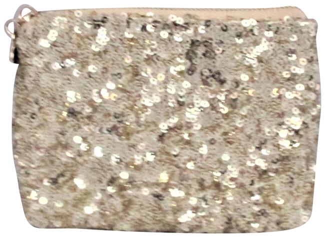 Item - Coin Purse Gold Metallic Sequins Clutch