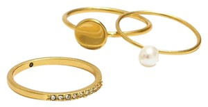 Madewell madewell freshwater pearl ring set size 8
