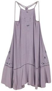 Free People short dress Lilac Tunic Embroidered on Tradesy
