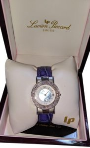Lucien Piccard New Lucien Piccard Purple Silver Crystal Mother of Pearl Wrist watch