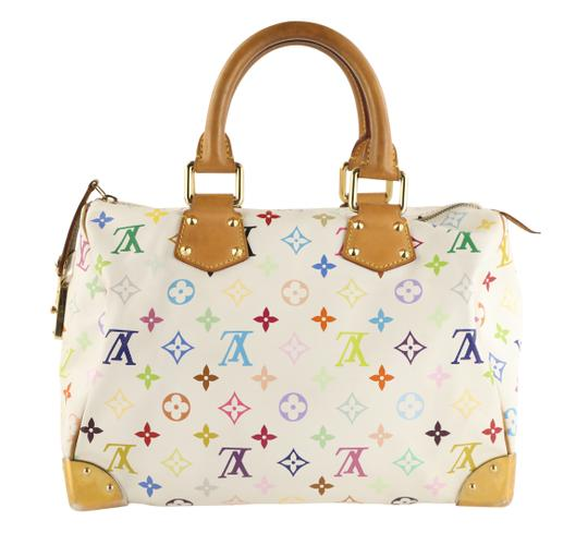 Louis Vuitton Lv Speedy White Monogram Tote in Multicolor Image 1