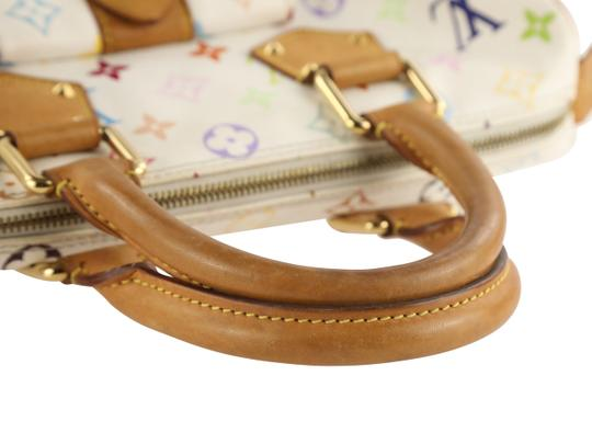 Louis Vuitton Lv Speedy White Monogram Tote in Multicolor Image 10