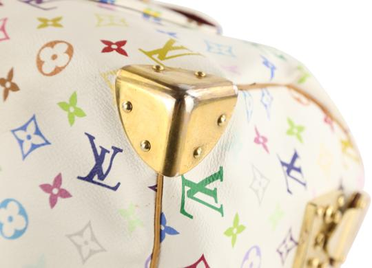 Louis Vuitton Lv Speedy White Monogram Tote in Multicolor Image 3
