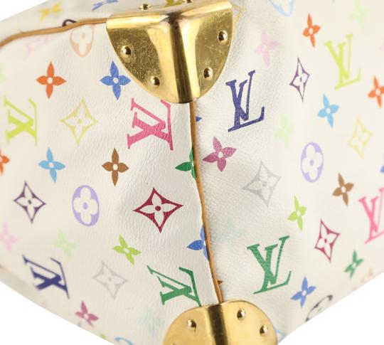 Louis Vuitton Lv Speedy White Monogram Tote in Multicolor Image 4