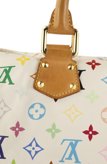 Louis Vuitton Lv Speedy White Monogram Tote in Multicolor Image 5