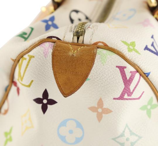 Louis Vuitton Lv Speedy White Monogram Tote in Multicolor Image 6