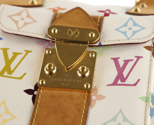 Louis Vuitton Lv Speedy White Monogram Tote in Multicolor Image 7