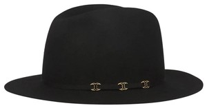 Tory Burch NEW Tory Burch metal charm gold logo Gemini Link Fedora felt Hat