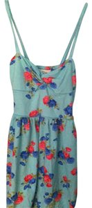 Abercrombie & Fitch short dress Light blue with pink and blue flowers Sun Pretty on Tradesy