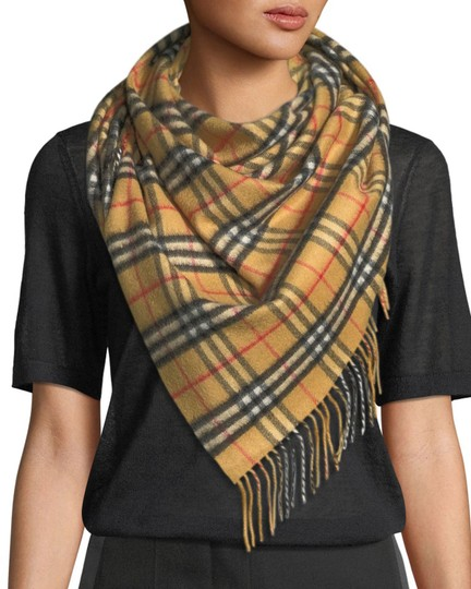 Burberry AUTHENTIC NEW Vintage Check Cashmere Bandana Scarf Image 1