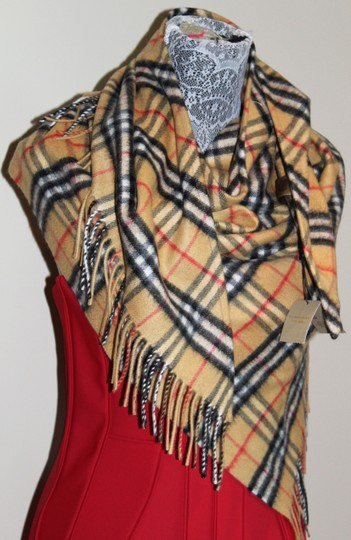Burberry AUTHENTIC NEW Vintage Check Cashmere Bandana Scarf Image 8