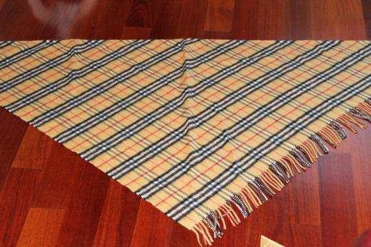 Burberry AUTHENTIC NEW Vintage Check Cashmere Bandana Scarf Image 9
