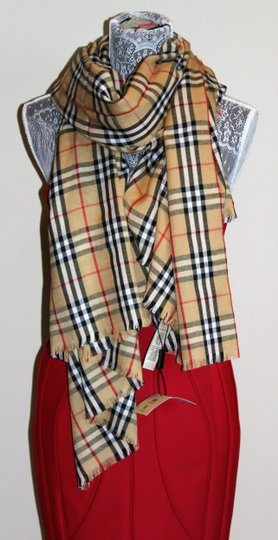 Burberry AUTHENTIC NEW Vintage Check Lightweight Cashmere Scarf Image 6