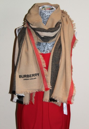 Burberry AUTHENTIC NEW Washed Wool & Cashmere Scarf Image 11