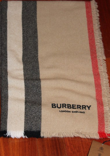 Burberry AUTHENTIC NEW Washed Wool & Cashmere Scarf Image 4