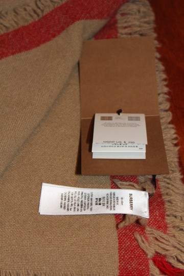 Burberry AUTHENTIC NEW Washed Wool & Cashmere Scarf Image 9