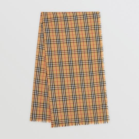 Burberry AUTHENTIC NEW Vintage Check Lightweight Cashmere Scarf Image 5