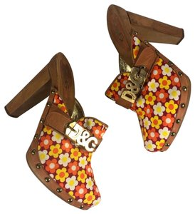 Dolce&Gabbana orange, yellow, red Mules