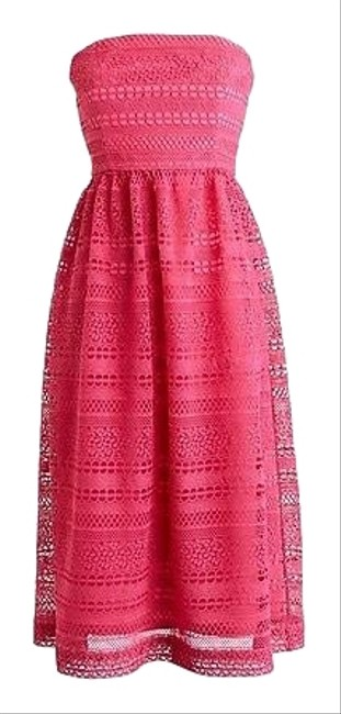 Item - Pink Collection Lace Mid-length Cocktail Dress Size 4 (S)