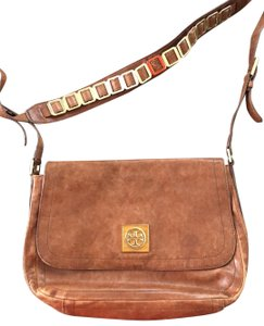 Tory Burch brown Messenger Bag