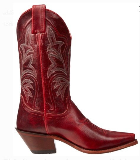 Justin Red Boots Image 3