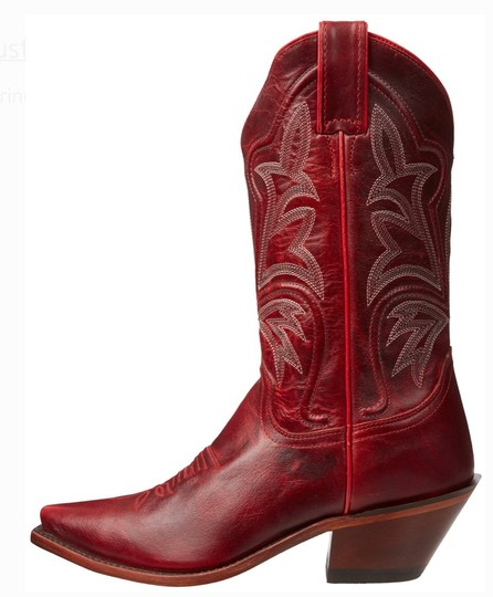 Justin Red Boots Image 4