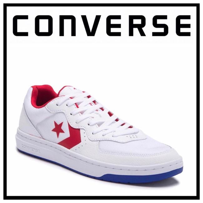 Item - White Enamel Red Leather Lo Ox Low Tops Sneakers Size US 11 Regular (M, B)