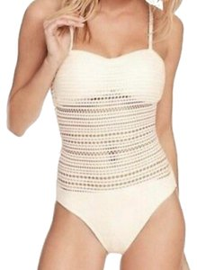 Robin Piccone Crochet One Piece Swimsuit