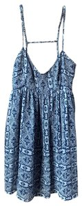 Olivaceous short dress blue on Tradesy