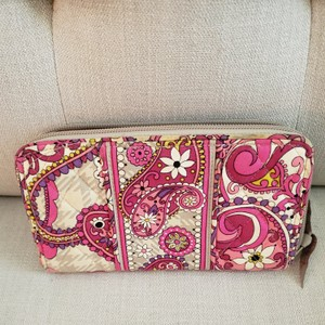 Vera Bradley Pink and grey Clutch